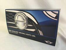 OEM Mini Cooper Retrofit LED Auxiliary Driving Lights Chrome Full Install Kit