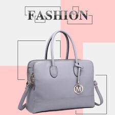 606c90f8ea81 Handbag Zipper Laptop Work PU Leather Ladies Large Shoulder Bag