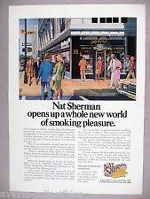 Nat Sherman PRINT AD - 1977 ~~ tobacco, tobacconist, 5th Avenue