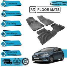 3D Molded Interior Car Floor Mat for Toyota Auris 2013-UP(Black)