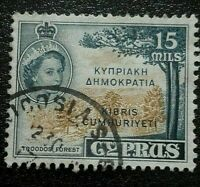 Cyprus:1960 Stamps of 1955 Overprinted 15M Rare & Collectible stamp.