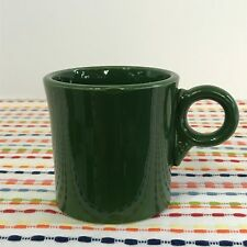 Vintage Fiestaware Forest Green Mug Fiesta 1950s Dark Green Ring Handle
