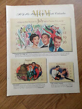 1952 Movie Ad Lovely to Look At   Grayson Skelton Keel Ivanhoe & The Merry Widow