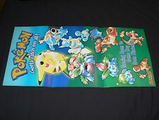 Nintendo Gameboy Color Pokemon Red Blue Yellow poster! *excellent*