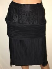 ROCHAS Black Silk Skirt High Low size 42