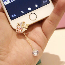 Anti Dust Plug For iPhone 6SPlus 6S 6plus 6 5C 5S 5 Pearls Pink Rose Tassel