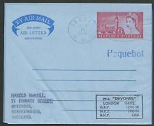 GB NORWAY 1966 MS DEVONIA  ship cover, GB airletter BERGEN PAQUEBOT........62484