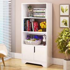 4 Tier Tall Bookshelf Bookcase Shelf Shelves Storage Display Unit Cupboard 120CM