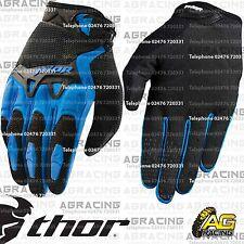 Guantes Thor Spectrum Azul Negro Juventud Niños Niños Medio Motocross Enduro Quad