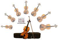 Sinfonie24 Geigenset Größe 1/4 (Basic II) Bernsteinfarbend + Markensaiten