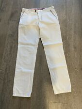Moncler White Cotton Light Pants