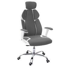 B-Ware Bürostuhl MCW-F12, Schreibtischstuhl, Sliding-Funktion, grau/weiß