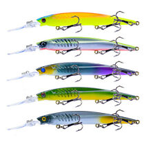 5Pcs Lot Plastic Minnow Fishing Lure Bass CrankBait Saltwater Tackle 14.6cm