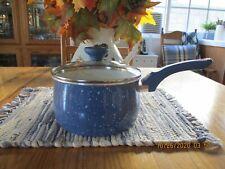 Farberware New Traditions Cookware Blue w/Lid & Blue Handles 3 Qt. Saucepan EUC