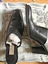 DELMAN Bergdorf Goodman Ladies Black Leather High Heel Mule/Slides Sz 7