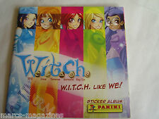 RARE PANINI WITCH W I T C H LIKE WE ITALIAN  STICKER ALBUM BOOK UNUSED