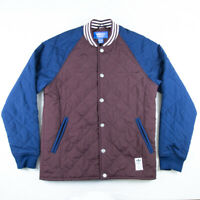 /// Adidas Originals M Padded Bomber Jacket Rare Retro Superstar Quilted Poppers