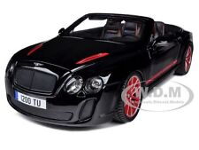 2012 2013 BENTLEY CONTINENTAL SUPERSPORTS ISR BLACK  1/18 CAR BY BBURAGO 11035
