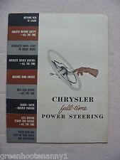 1953 Chrysler Power Steering  Brochure