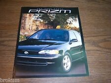 MINT CHEVROLET 2002 GEO PRIZM SALES BROCHURE NEW