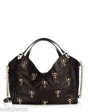 Juicy Couture Topanga Leather Studded Small Tote Bag - Black