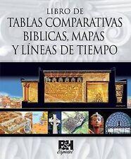 Libro de Tablas Comparativas Biblicas, Mapas y Líneas de Tiempo (Spanish Edition