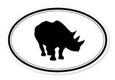 """Rhino Oval car window bumper sticker decal 5"""" x 3"""""""