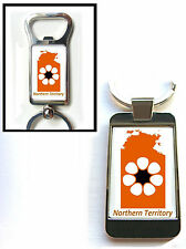AUSTRALIA NORTHERN TERRITORY STATE FLAG MAP KEYRING KEYFOB OR BOTTLE OPENER GIFT