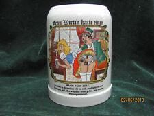 Half Liter Off White Modern Style German Beer Stein
