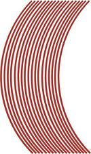 3mm wheel rim tape striping stripes stickers Red..(38 pieces/9 per wheel)
