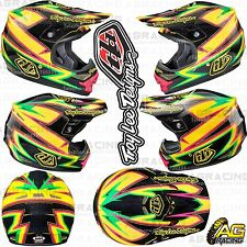 Troy Lee Designs 2015 Small S Air Helmet Charge Black Yellow Quad ATV Off Road