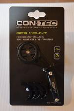 CONTEC GPS Mount Fahrradcomputerhalter für Garmin und Mio / Aluminium schwarz