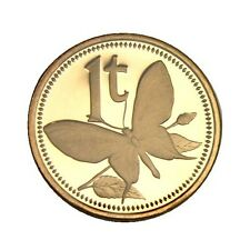 elf Papua New Guinea Toea 1975 FM Proof Butterfly