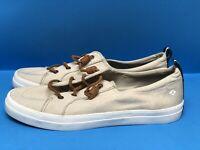 SPERRY Women's Crest Vibe Linen Sneaker 11 M Oat Beige
