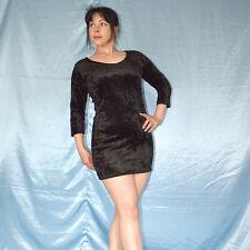 Lace Back IN Velvet Evening Dress S (38) Cocktail Sheath Summer