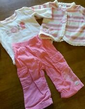 Kids Play 3-6  mos girls three piece outfit.  VERY DARLING!