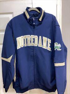 NWOT Majestic Notre dame Football Fleece Lined Jacket Size 2XL