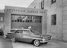 1959 Chevrolet Biscayne Brookwood 4-door Rescue station wagon 8 x 10  Photograph