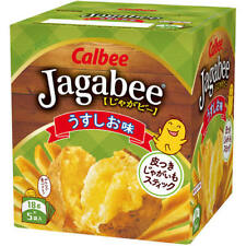 Japanese Food Calbee Jagabee Light Sault Taste Stick Snack 18g x 5 Bags/ per box