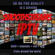 6 month Iptv Sd Hd Fhd 4k 6000 Channels + Vod + Epg  free 48hr trial best severs