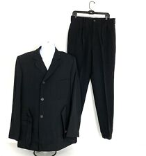 Yohji Yamamoto Pour Homme SS1999 Black Wool Suit Jacket Blazer And Pants NEW