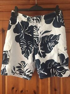 Quiksilver Board Shorts , Size 32, Navy & White
