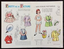1962, Pretty as a Picture Paper Dolls, Vogue Pattern Series, Jack & Jill Mag