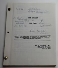 AIR AMERICA / John Eskow 1989 Screenplay, Mel Gibson & Robert Downey Jr.
