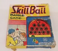 VINTAGE LOUIS MARX SKILL BALL MARBLE GAME ORIGINAL BOX 1920'S-30'S