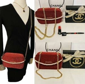 ❤️ CHANEL Holiday 2020 Lip colour Duo SET, CROSSBODY CHAIN COSMETIC POUCH BAG ❤️