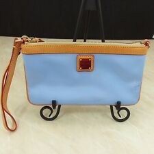 Dooney & Bourke Large Blue Patent Leather Wristlet Pouch Coin Purse NWOT Flaw