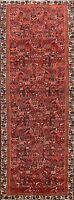 Excellent Geometric Hamedan Tribal Wool Runner Rug Handmade Oriental Carpet 3x10