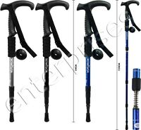 3 JOINT FLARED HANDLE HIKING CAMPING TREKKING WALKING STICK TELESCOPIC POLE NEW
