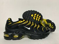 Nike Air Max Plus TN (GS) Running Shoes Black Vivid Sulfur Yellow ( 655020-057 )